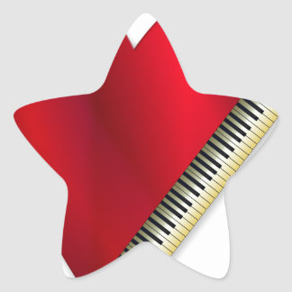 Love Playing Piano Star Sticker