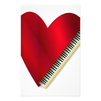 Love Playing Piano Stationery