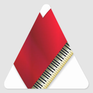 Love Playing Piano Triangle Sticker