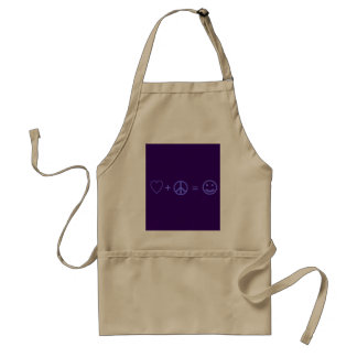 Love plus Peace equals Happiness Adult Apron