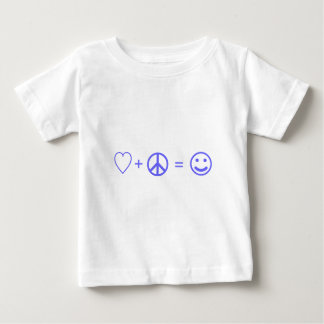Love plus Peace equals Happiness Infant T-Shirt