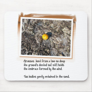 Love Poem and Beached Orange Mouse Pad