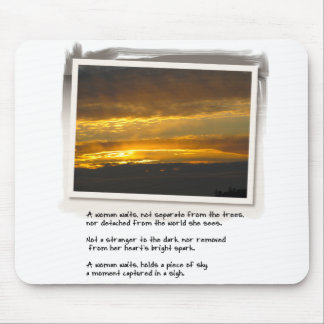 Love Poem and Birch Bay Sunset Mouse Pad