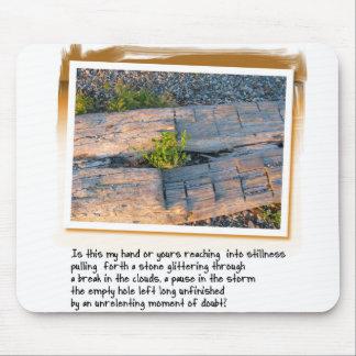 Love Poem and Log on Beach Mousepad