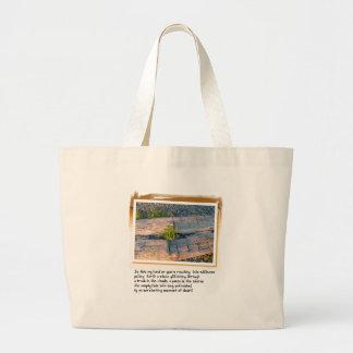 Love Poem and Log on Beach Jumbo Tote Bag