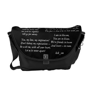 Love Poems Courier Bags