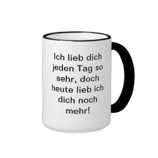 Love poems cup coffee mug