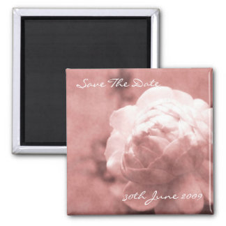 Love Poetry - Save The Date Square Magnet