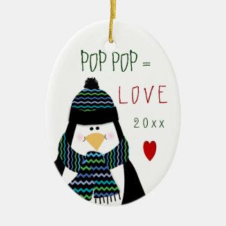 Love POP POP Penguin Christmas Gift Christmas Ornament