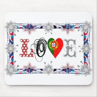 Love Portugal Mouse Mat