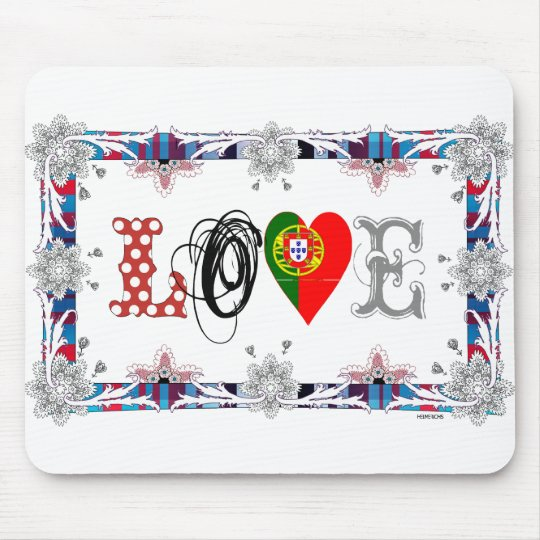 Love Portugal Mouse Pad