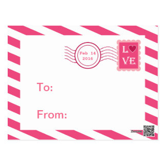 Love Postmark Classroom Valentines for Kids Postcard
