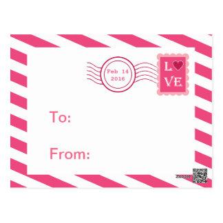 Love Postmark Classroom Valentines for Kids Postcard