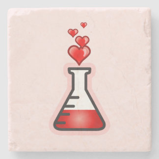 Love Potion Chemistry, Science of Health Stone Coaster