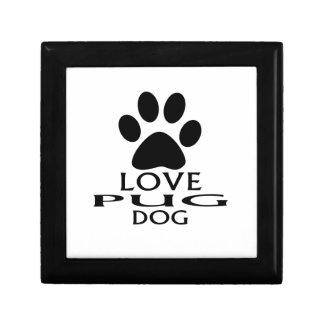 LOVE PUG DOG DESIGNS GIFT BOX