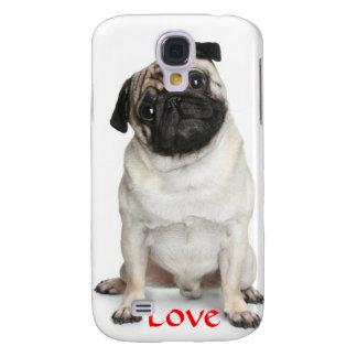 Love Pug Hard  iPhone  Case 3G  3GS Galaxy S4 Case