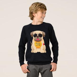 Love Pug Puppy Dog Cartoon Kids Sweatshirt