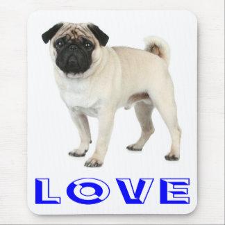 Love Pug Puppy Dog Computer Mousepad