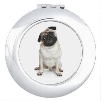 Love Pug Puppy Dog Mirror Compact Vanity Mirror