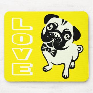 Love Pug Puppy Dog Mousepad