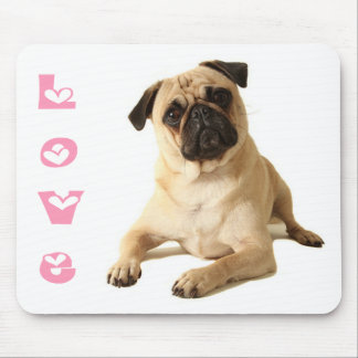 Love Pug Puppy Dog Mousepad