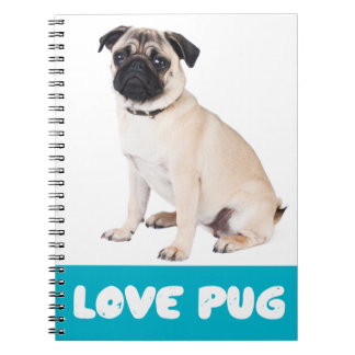 Love Pug Puppy Dog Notebook / Journal
