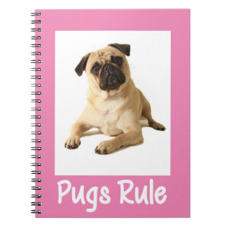 Love Pug Puppy Dog Pink Notebook / Journal