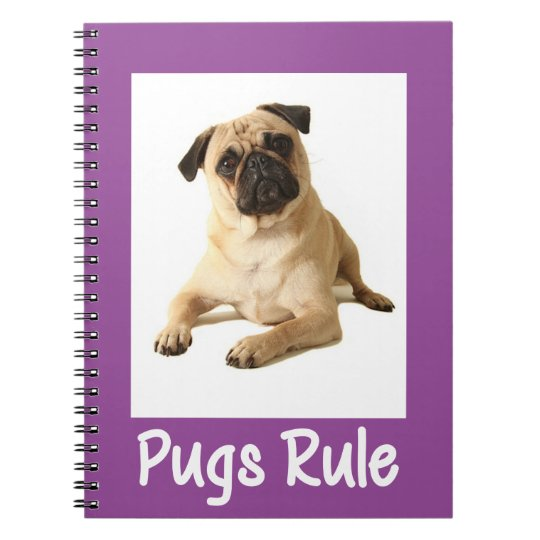 Love Pug Puppy Dog Purple Notebook / Journal