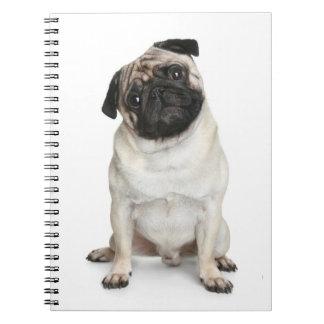 Love Pug Puppy Dog White Notebook / Journal