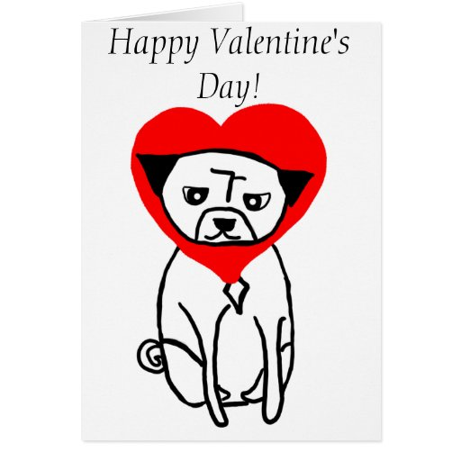 Love Pug Valentine's Day Cards