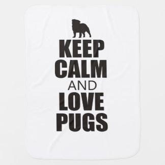 Love Pugs Baby Blanket
