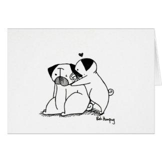 Love Pugs Greeting Card