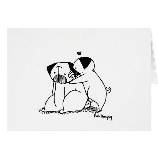 Love Pugs Greeting Cards