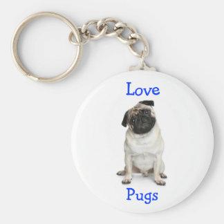 Love Pugs Key Chain