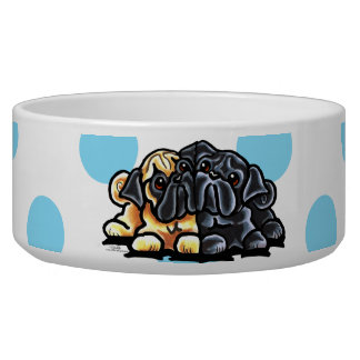 Love Pugs Pet Water Bowl