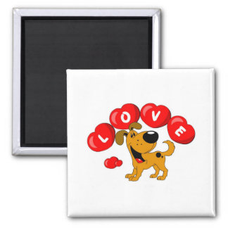 Love (Pumpkin) Square Magnet