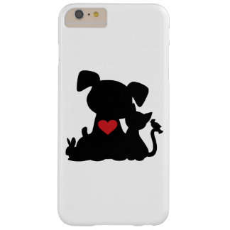 Love Puppy and Kitten Silhouette Barely There iPhone 6 Plus Case