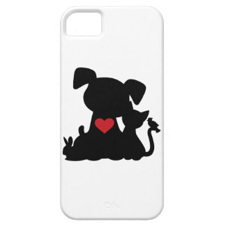 Love Puppy and Kitten Silhouette iPhone 5 Case