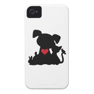 Love Puppy and Kitten Silhouette Case-Mate iPhone 4 Case