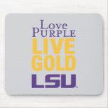 Love Purple Live Gold LSU Logo Mouse Mat