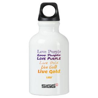 Love Purple Live Gold LSU Water Bottle