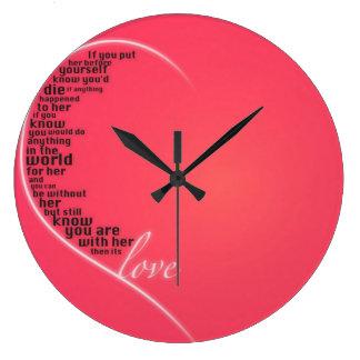 Love Quote Clock! Large Clock