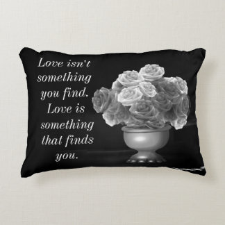 Love Quote Flowers Pillow