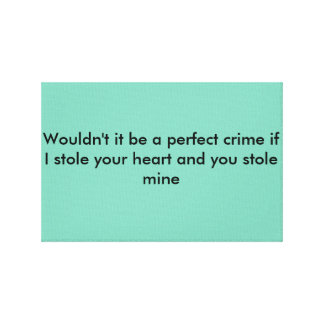 Love quote for couples stretched canvas print