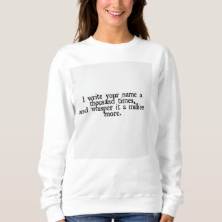 Love quote sweater