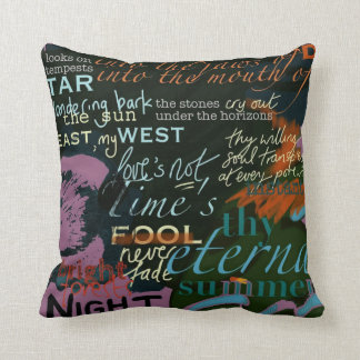 Love Quotes Cushion from Shakespeare, Blake, Auden