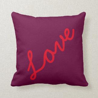 Love Quotes Purple Background Theme Beach Wedding Cushions