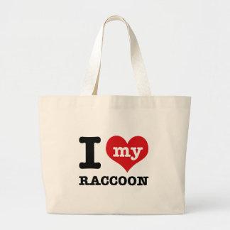 love Racoon Tote Bag