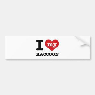 love Racoon Car Bumper Sticker