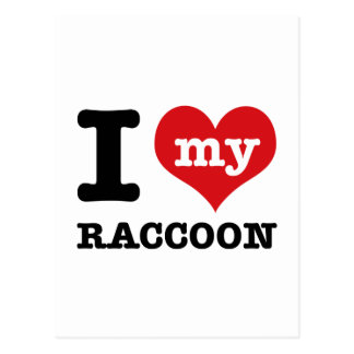 love Racoon Postcard